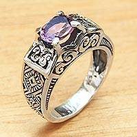 Amethyst cocktail ring, 'Noble Princess'