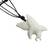Cow bone and leather pendant necklace, 'Catch the Wind I' - Artisan Crafted Leather Necklace with Eagle Pendant (image 2b) thumbail