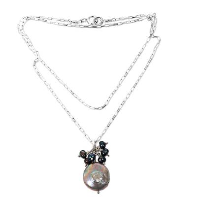 Cultured pearl pendant necklace, 'Sweet Coconut' - Cultured Biwa Pearl Pendant Necklace from Indonesia