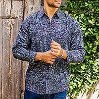 Men's long sleeve shirt, 'Uluwatu Nautilus'