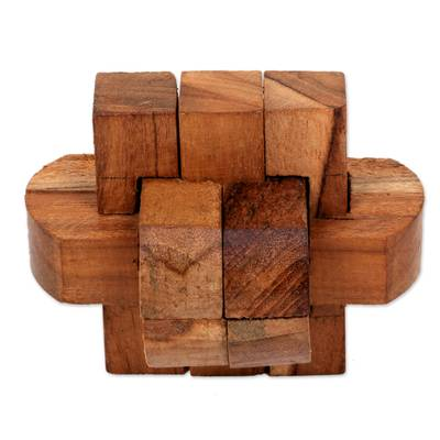 eco-friendly gift - Upcycled Teakwood Puzzle #ecofriendlygifts