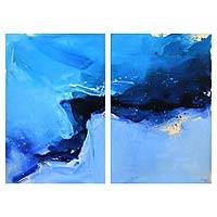 'Blue Sky' (diptych, 2015) - Set of 2 Original Javanese Modern Art Paintings