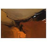 'Melted' - Abstract Painting Original Fine Art in Shades of Brown