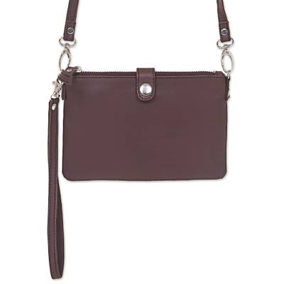 Leather Shoulder Bag Clutch Wallet