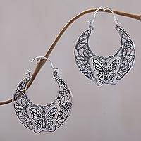 Sterling silver dangle earrings, 'Beautiful Garden' - Sterling Silver Dangle Earrings from Indonesia
