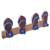 Wood coat rack, 'Flip Flops in Maroon and Blue' - Hand Carved Wood Coat Rack Agel Grass from Indonesia (image 2b) thumbail