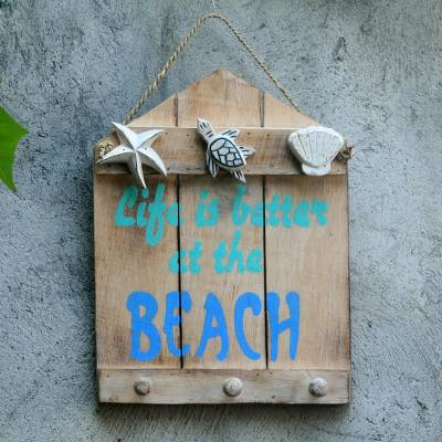 Beach And Nautical Distressed Wood Coat Rack From Indonesia Life Is Better At The