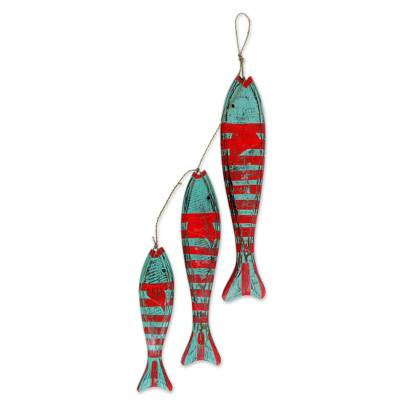 Wood home accent, 'Fish' - Hand Carved Wood Fish Accent Indonesia