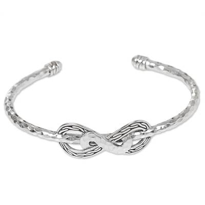 Hand Made Sterling Silver Cuff Bracelet from Indonesia
