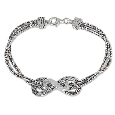 Hand Made Sterling Silver Chain Bracelet from Indonesia