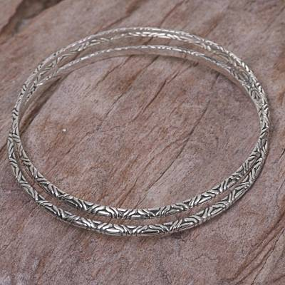 925 Sterling Silver bali  handcrafted Bangle