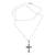 Sterling silver necklace, 'Christ on the Cross' - Highly Polished Sterling Silver Crucifix on Cuban Chain (image 2c) thumbail