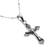 Sterling silver necklace, 'Christ on the Cross' - Highly Polished Sterling Silver Crucifix on Cuban Chain (image 2d) thumbail