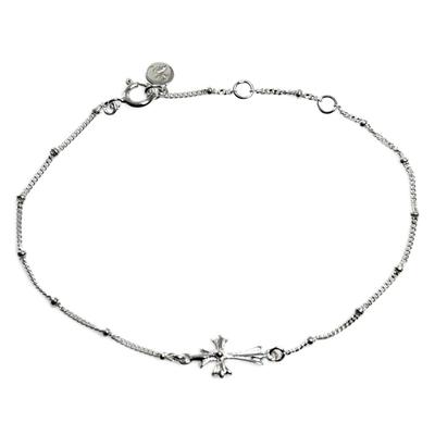 Handmade Sterling Silver Cross Bracelet from Indonesia