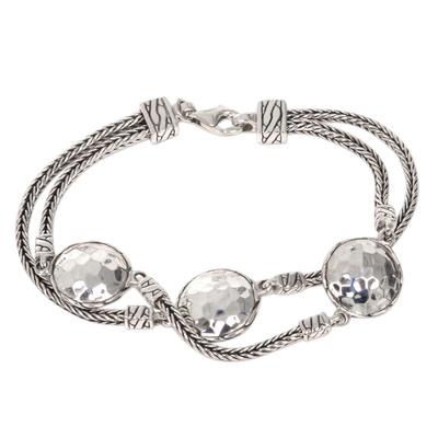 Hand Made Sterling Silver Naga Link Bracelet from Bali