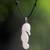 Bone pendant necklace, 'Timid Sea Horse' - Hand Made Bone Pendant Necklace Sea Horse from Indonesia (image 2) thumbail