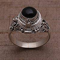 Onyx locket ring, 'Gerhana Shrine'