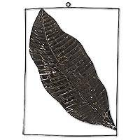 Steel wall art, 'Leafy Paradise' - Steel Banana Leaf Handmade Wall Art from Indonesia