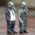 Wood sculpture, 'Grey Duck Fashionistas' (pair) - Hand Carved Wood Sculptures of Duck Pair from Indonesia (image 2c) thumbail