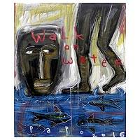 'Walk On Water' - Expressionist Painting with Surreal Theme from Bali