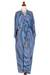 Rayon robe, 'Ocean Reef' - Women's Blue 100% Rayon Robe from Indonesia (image 2d) thumbail