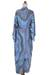 Rayon robe, 'Ocean Reef' - Women's Blue 100% Rayon Robe from Indonesia (image 2e) thumbail