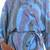 Rayon robe, 'Ocean Reef' - Women's Blue 100% Rayon Robe from Indonesia (image 2f) thumbail