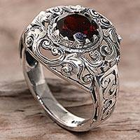 Garnet cocktail ring, 'Crimson Dream'