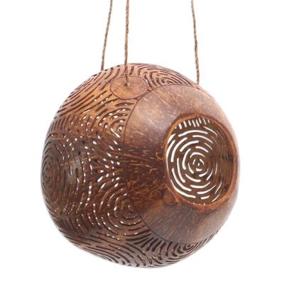 Hand Made Coconut Shell Birdhouse, unicef