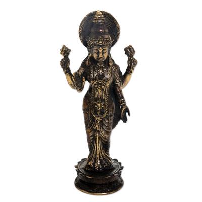 Bronze Sculpture of Hindu Goddess Lakshmi Indonesia