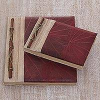 Featured review for Natural fiber notebooks, Autumn Spirit in Red (pair)