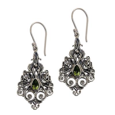 Sterling Silver Peridot Dangle Earrings from Indonesia