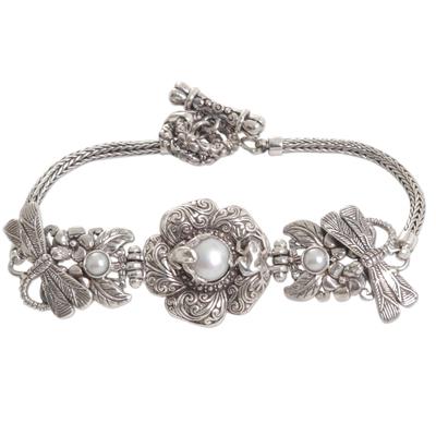 Cultured Pearl Sterling Silver Bracelet Handmade Indonesia