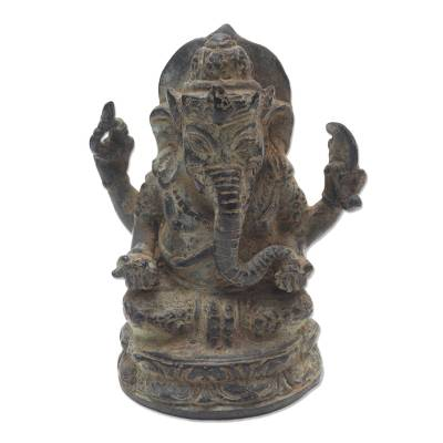 Bronze Sculpture of Hindu Ganesha Elephant from Indonesia