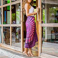 Featured review for Rayon sarong, Pink Sunshine