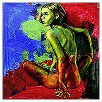 'The Woman I Am' - Original Painting of Artistic Nude Female by Java Artist