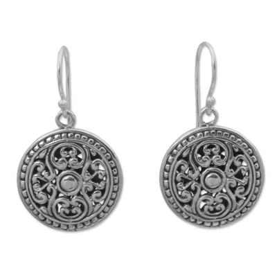 Sterling silver dangle earrings, 'Perfect Alignment' - Handcrafted Sterling Silver Dangle Earrings from Bali