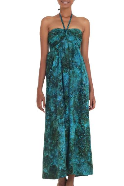 Batik Rayon Tropical Maxi Dress Made in Indonesia