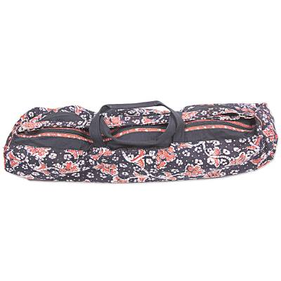 Cotton batik yoga mat bag, 'Stars and Roses' - Handcrafted Javanese Cotton Batik Yoga Mat Bag