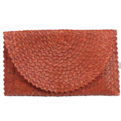 Hand Made Natural Fiber Clutch Handbag from Indonesia