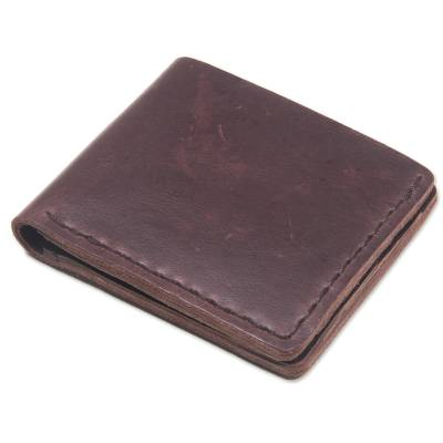 Hand Made Brown Leather Wallet from Indonesia