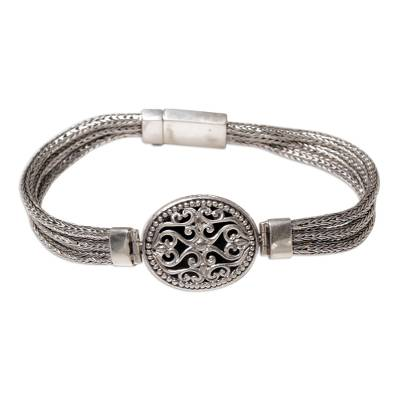 Sterling Silver Pendant Bracelet from Indonesia