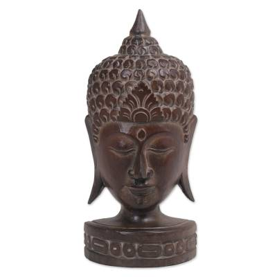 Albesia Wood Sculpture of Buddha from Indonesia