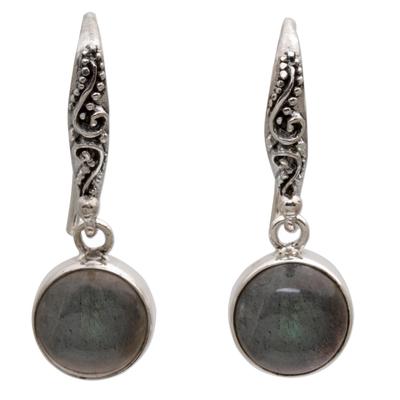 Sterling Silver Earrings Labradorite Handcrafted in Bali