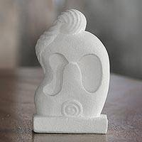 Sandstone sculpture, 'Melted Hug' - Hand Crafted Romantic Sandstone Sculpture from Indonesia