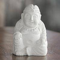 Sandstone sculpture, 'Natural Buddha' - Hand Carved Sandstone Buddha Sculpture from Indonesia