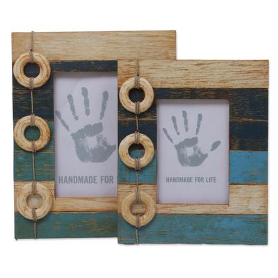 4x6 and 3x5 Albesia Wood Indonesian Nautical Photo Frames