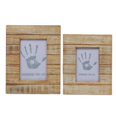 Unicef Market 4x6 And 3x5 Natural Finish Albesia Wood Photo Frames Wood Stripes