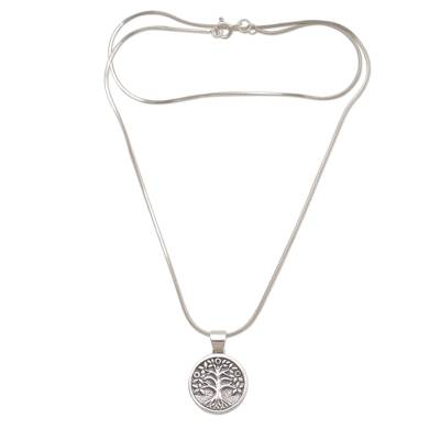 Reversible sterling silver pendant necklace, 'Rooted in Hope' - Sterling Silver Star Pendant Necklace from Indonesia