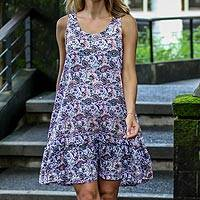 Sleeveless rayon dress, 'Pretty in Paisley' - Handmade Sleeveless Rayon Dress with Paisley Pattern